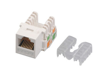 Jaque modular dourado trapezoide home YH7011 do Pin do CE 8P8C do jaque IDC da rede Cat6 RJ45